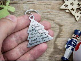 Erről szól a karácsony medálos kulcstartó