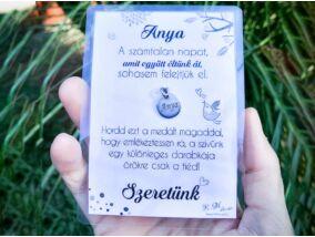 Szeretünk Anya medál köszönő kártyával