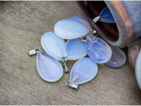 Opalit üveg csepp ásvány medál