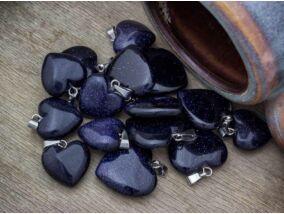 Szintetikus napkő szív ásvány medál