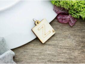 Scrabble Z betű lézervágott nyírfa medál