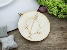 Nyilas horoszkóp lézervágott lógós nyírfa medál