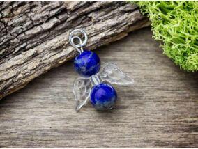 Nyitottság angyal lápisz lazuli ásvány medál