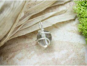 Hegyikristály ezüst színű drót medál