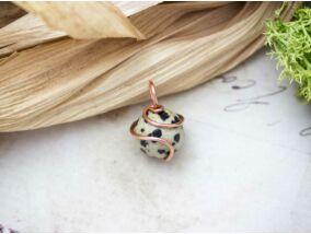 Dalmata jáspis réz drót medál