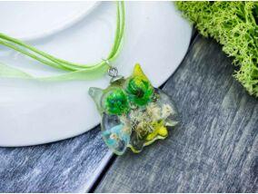 Zöld bagoly műgyanta nyaklánc