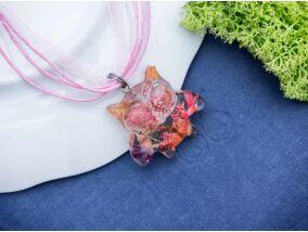 Rózsaszín bagoly műgyanta nyaklánc