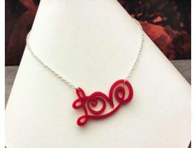 Love plexi medál ezüst színű nyakláncon