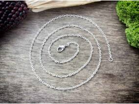 Ezüst színű nyaklánc 50 cm
