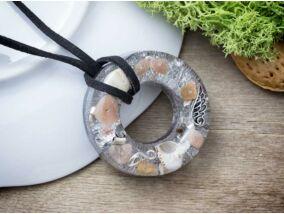 Orgonit műgyanta koszorú nyaklánc ásvány törmelékkel