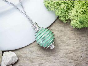 Menta zöld angyalhívó nyaklánc