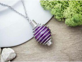 Közép lila angyalhívó nyaklánc