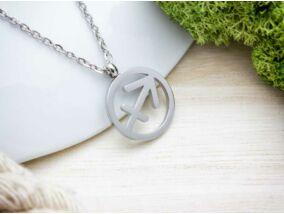 Ezüst színű nyilas horoszkópos acél nyaklánc