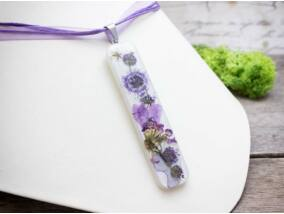 Műgyanta préselt nagy virágcsokor nyaklánc