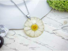 Műgyanta préselt virágos nyaklánc