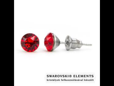 Jazzy piros SWAROVSKI® kristályos fülbevaló \Aries\