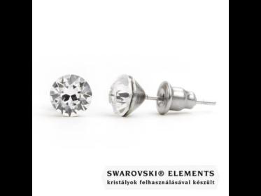 """Jazzy átlátszó SWAROVSKI® kristályos fülbevaló \Virgo\"""" - Kerek Crystal"""""""
