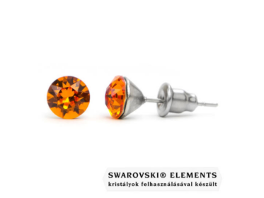 Jazzy borostyán Swarovski® kristályos fülbevaló
