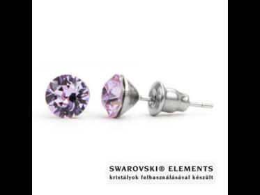 Jazzy világos lila Swarovski® kristályos fülbevaló