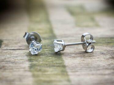 Clara szív cirkónia kristályos fülbevaló 4mm