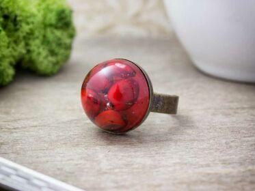 Borbolya szerelem műgyanta gyűrű