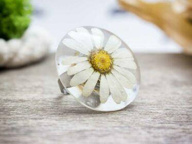 Margaréta műgyanta gyűrű