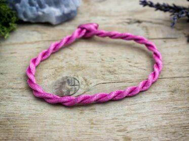 Megérzés pink textil karkötő
