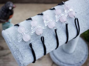 Szerelem angyala rózsakvarc karkötő 5 dbos csomag