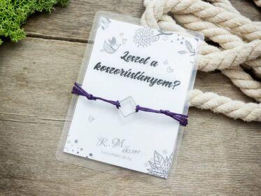 Leszel a koszorúslányom lila kívánság karkötő