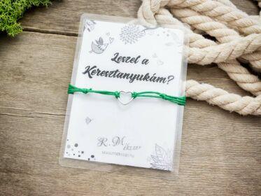 Leszel a Keresztanyukám zöld kívánság karkötő