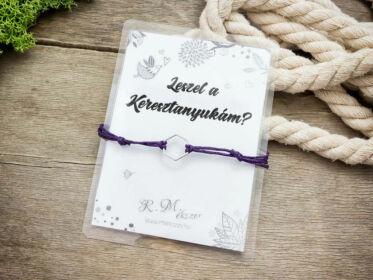Leszel a Keresztanyukám lila kívánság karkötő