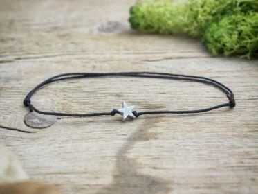 Pöttöm hematit csillag ásvány karkötő