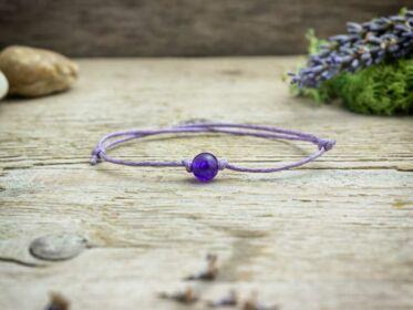Lila pöttöm lila jáde ásvány karkötő