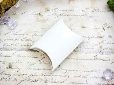 Hófehér hajtogatható papír ékszerdoboz
