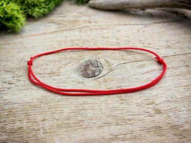 Kabbala védelmező vörös microcord karkötő