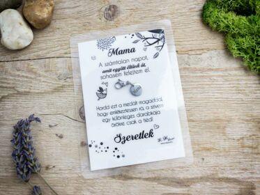 Szeretlek Mama medál köszönő kártyával