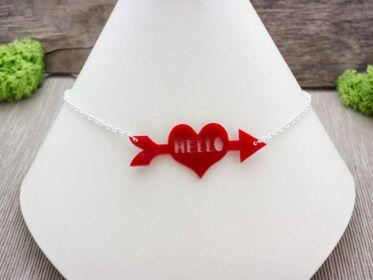 Helló szerelem plexi nyaklánc