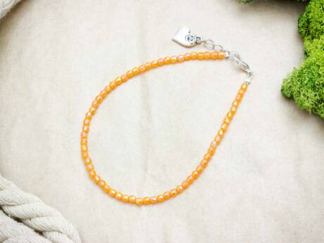 Narancssárga szerelem gyöngyös bokalánc