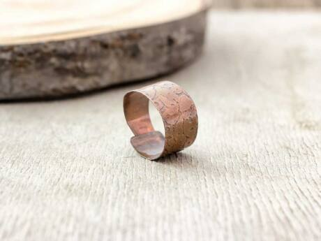 Lemez réz gyűrű 58