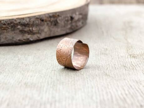 Lemez réz gyűrű 53