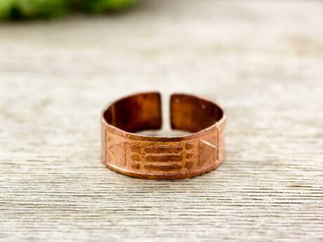 Lemez réz atlantisz gyűrű 66