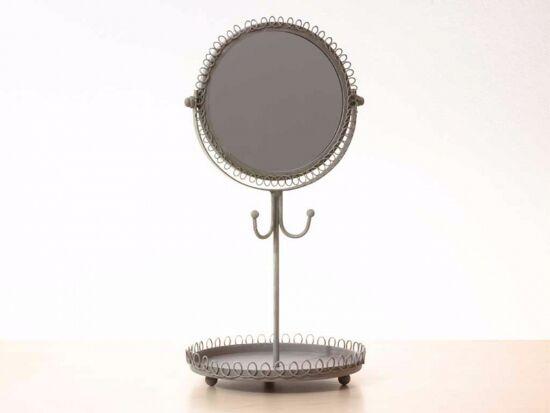 Fém ékszertartó tükörrel