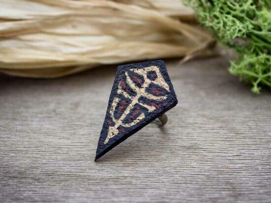 Védelem festett bőr-parafa gyűrű