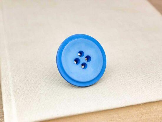 Kék gombos gyűrű