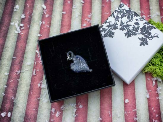 Olvadó szív üveg medál