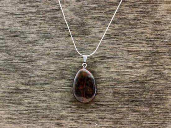Barna obszidián ásvány medál