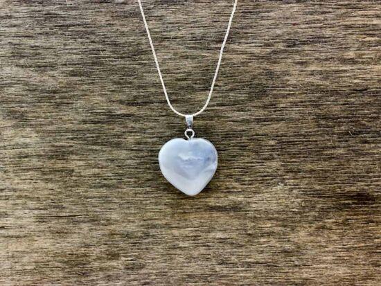 Kvarc szív ásvány medál