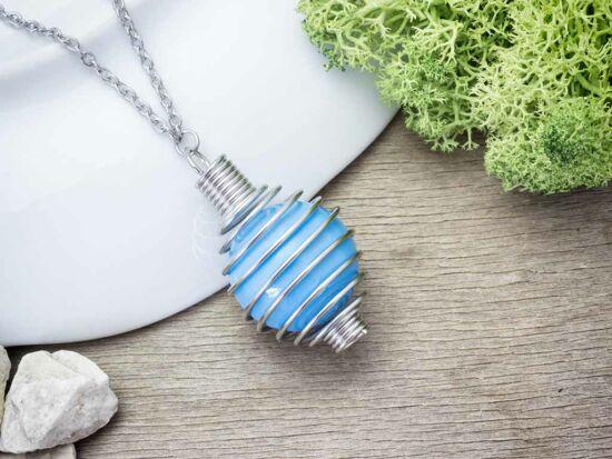 Világos kék angyalhívó nyaklánc