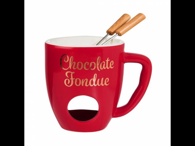 CHOCOLATE FONDUE fondue bögre piros
