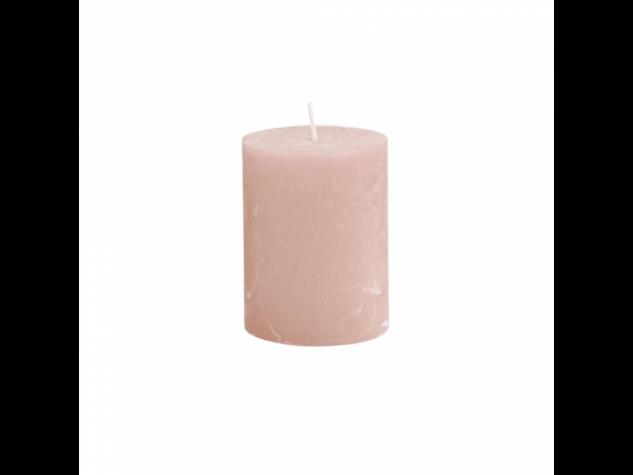 RUSTIC II. gyertya 9cm rózsaszín